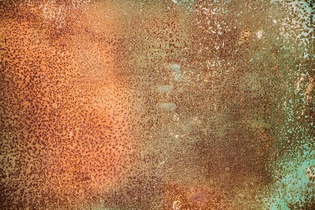 La textura del viejo metal oxidado.