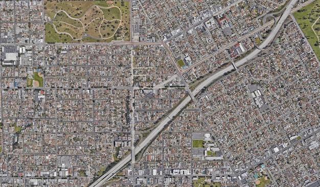 Textura de vista satelital