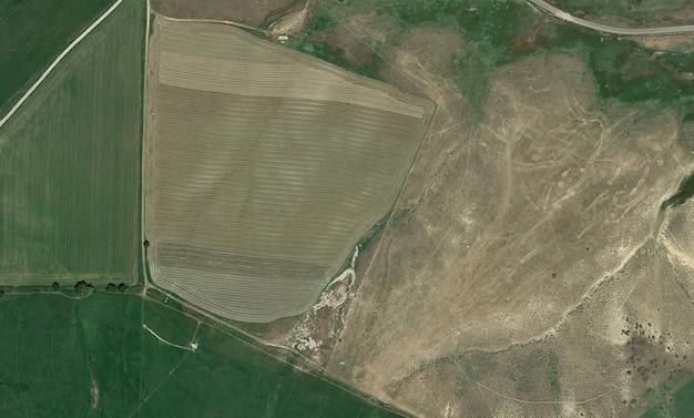 Textura de vista superior de satélite sobre colorado
