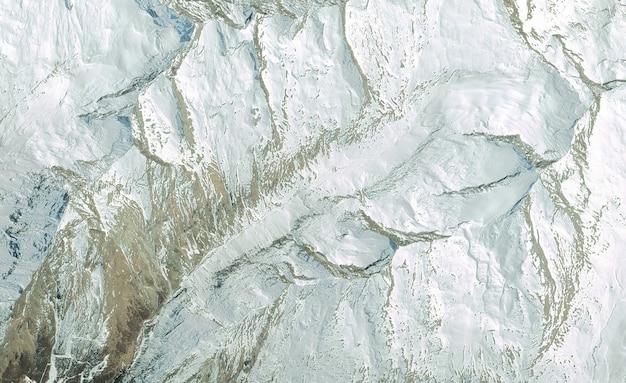 Textura de vista superior de satélite sobre suiza