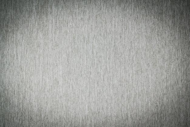 Texturas de algodón de tela gris.
