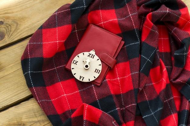 Tiempo de compras navideñas compras navideñas en línea viernes negro gran venta vista plana endecha superior