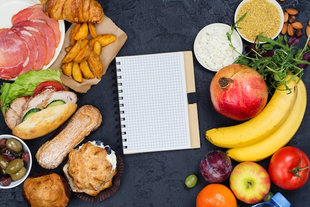 Tiempo para la dieta. 5: 2 concepto de dieta en ayunas