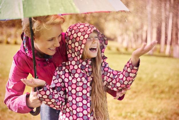 Tiempo lluvioso pero estamos tan felices