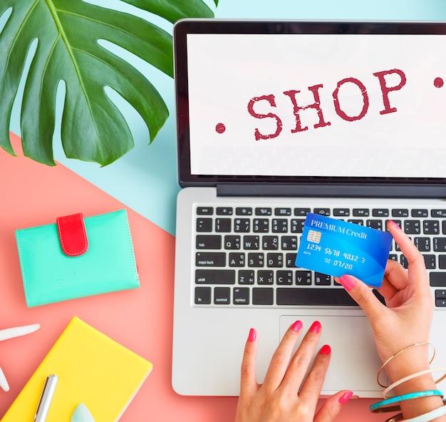 Tienda compra venta minorista compra concepto gráfico