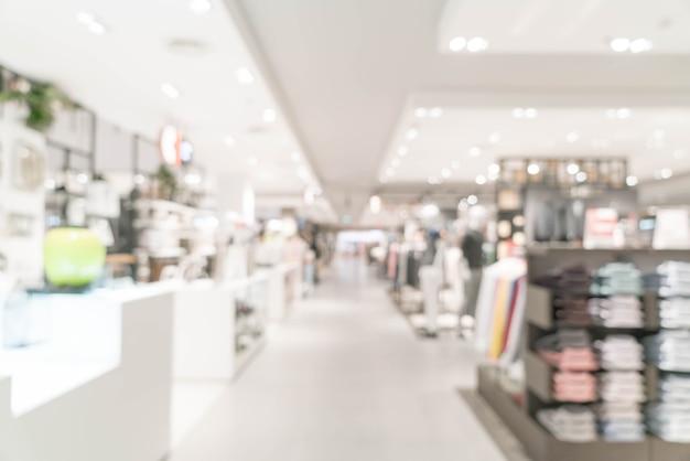 Tienda de lujo abstracta de la falta de definición en centro comercial