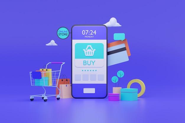 Tienda online en aplicación móvil