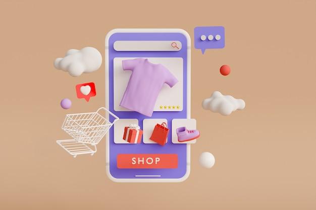 Tienda online renderizado 3d