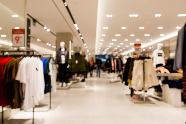 Tienda de ropa con efecto borroso