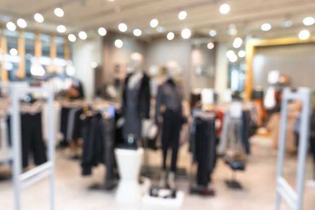 Tienda de ropa de moda boutique borrosa