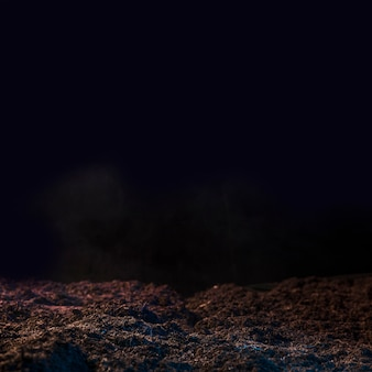 Tierra oscura y muerta