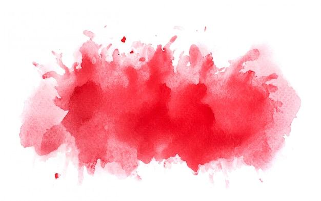 Tinta roja de acuarela