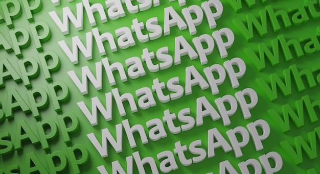 Tipografía múltiple de whatsapp en pared verde