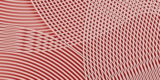 Tira de color rosa líneas curvas de fondo. ilustración de renderizado 3d