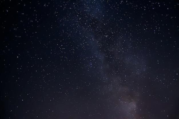 Tiro de ángulo bajo del fascinante cielo estrellado