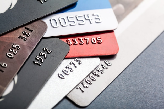 Tiro cercano de la tarjeta de crédito