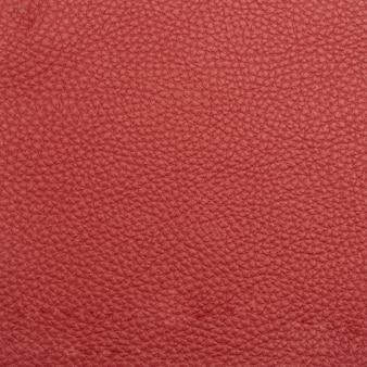 Tiro macro de cuero rojo