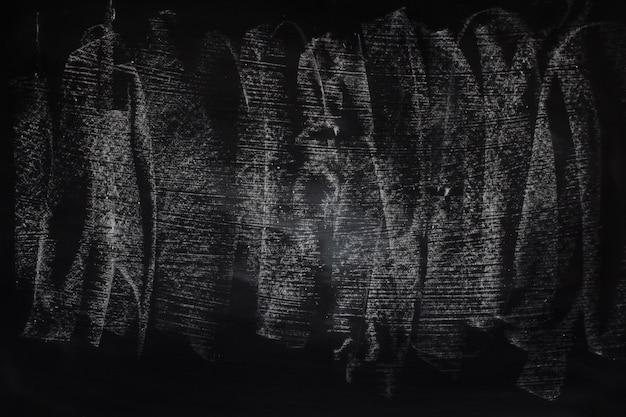La tiza sucia del extracto de la textura del grunge negro frotó hacia fuera en fondo de la pizarra o de la pizarra.