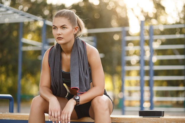 Toalla deportiva mujer uso