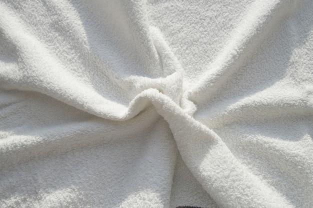 Toalla suave white terry para tratamientos spa