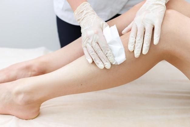 Toallitas de tela para piernas master depilation