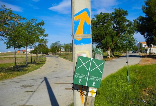 El toboso don quijote rastro señal santiago