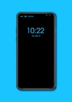 Toda la pantalla del teléfono inteligente negro aislado. render 3d