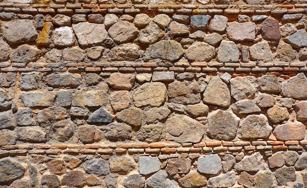Toledo juderia muro de piedra de mampostería