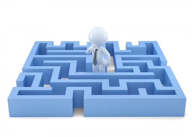 Tomando una desición. concepto de negocio. aislado, contiene trazado de recorte