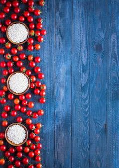 Tomate cherry granja productos frescos alimentos orgánicos