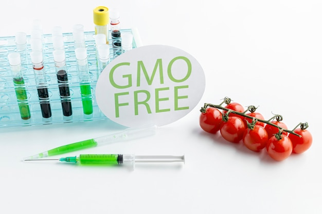 Tomates cherry fruta libre genéticamente modificada