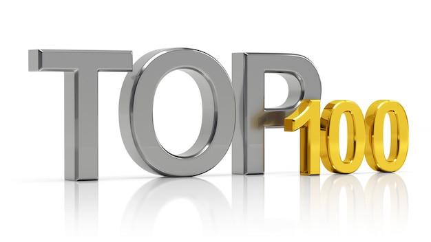 Top 100. mejor lista de cien.