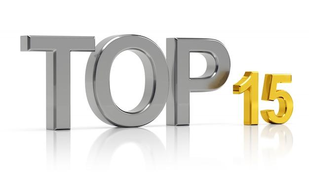 Top 15. mejor lista de quince.