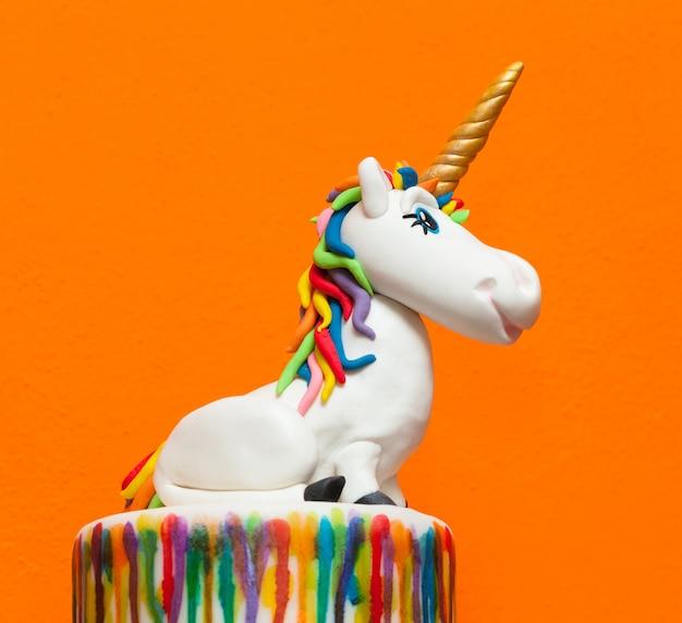 Topper de pastel de unicornio