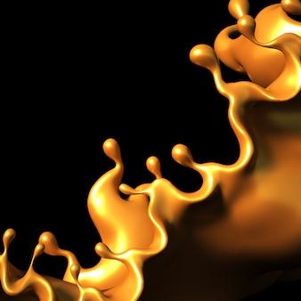 Un toque de caramelo dorado sobre un negro.