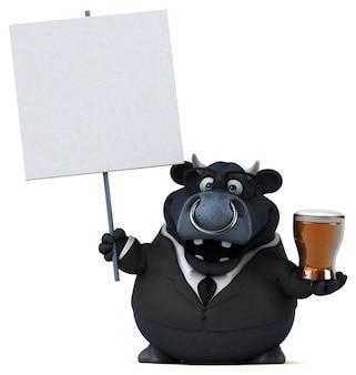 Toro negro - ilustración 3d