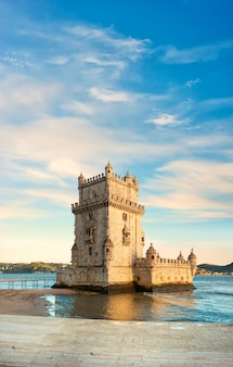 Torre de belem en lisboa, portugal