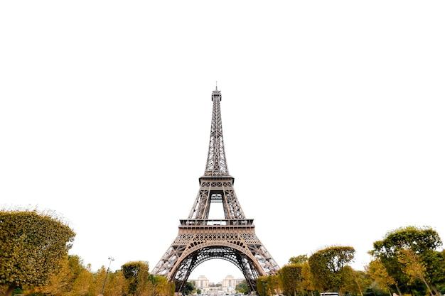 Torre eiffel en otoño. viaje a francia durante las vacaciones. foto de alta calidad