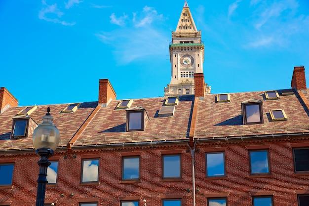 Torre del reloj de boston custom house massachusetts
