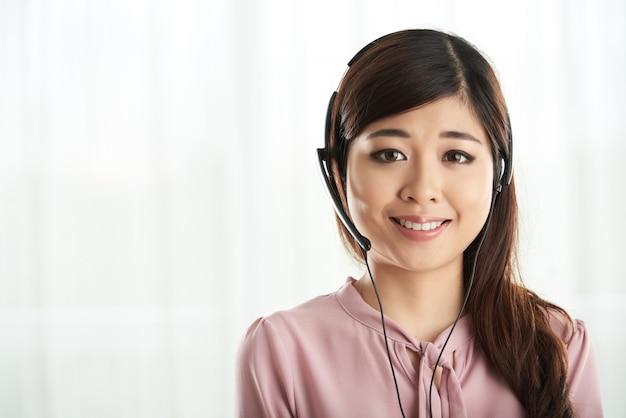 Trabajador del centro de llamadas