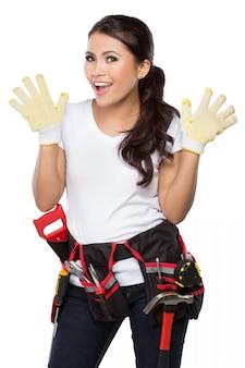 Trabajador de la construcción femenina