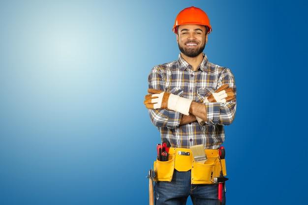 Trabajador de la construcción masculina