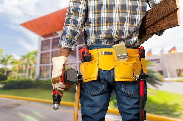Trabajador de la construcción en obra
