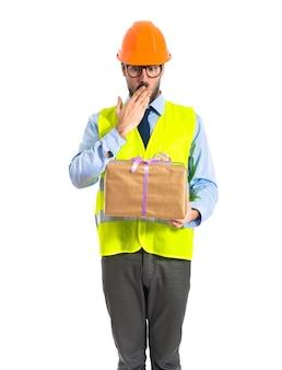 Trabajador, tenencia, regalo