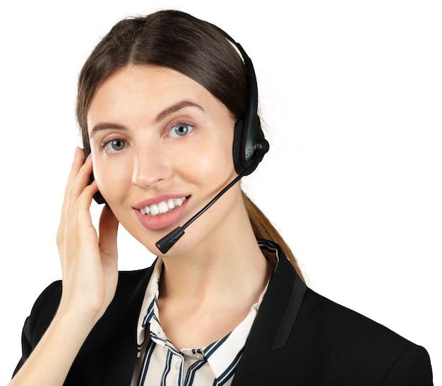 Trabajadora de servicio al cliente mujer