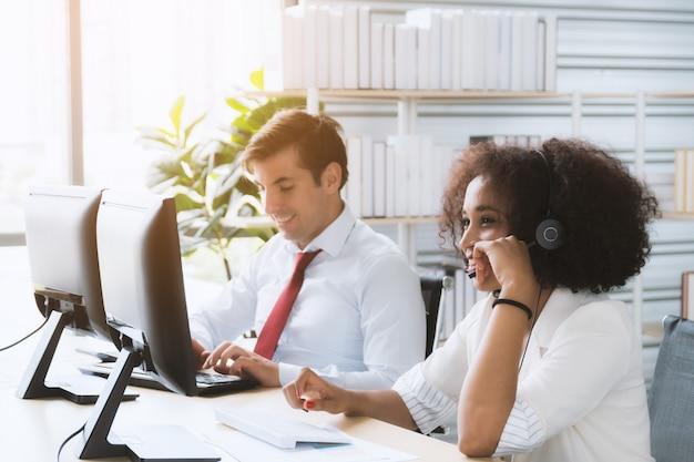Trabajadores del centro de llamadas