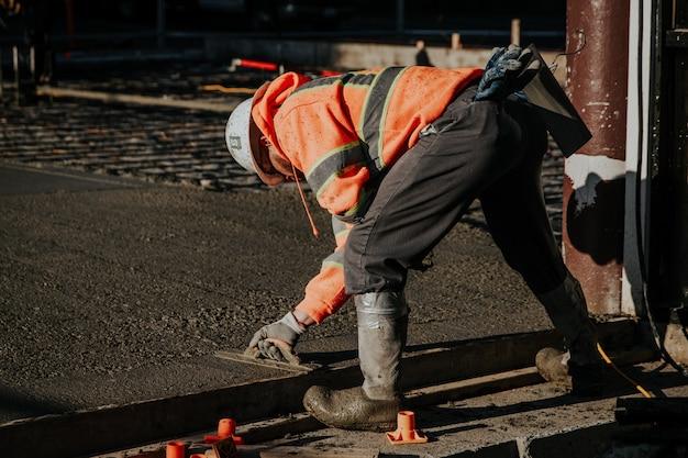 Trabajadores en el sitio de construcción