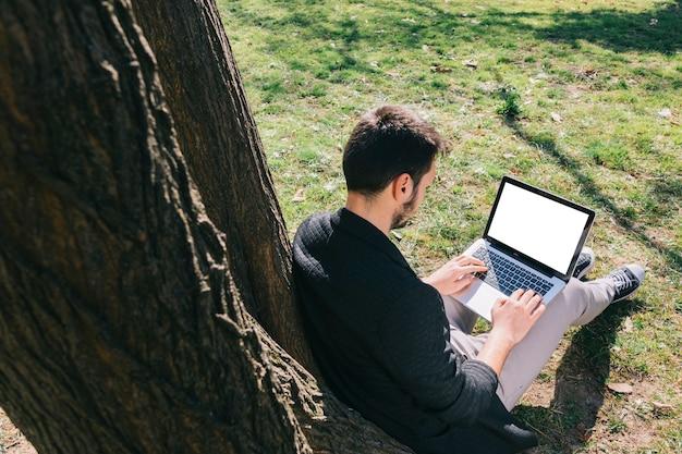 Trabajando al aire libre
