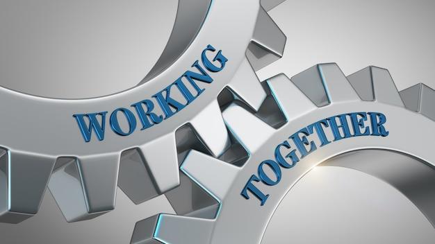 Trabajando juntos concepto