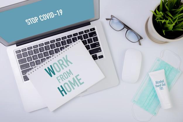 Trabajar desde casa concepto.